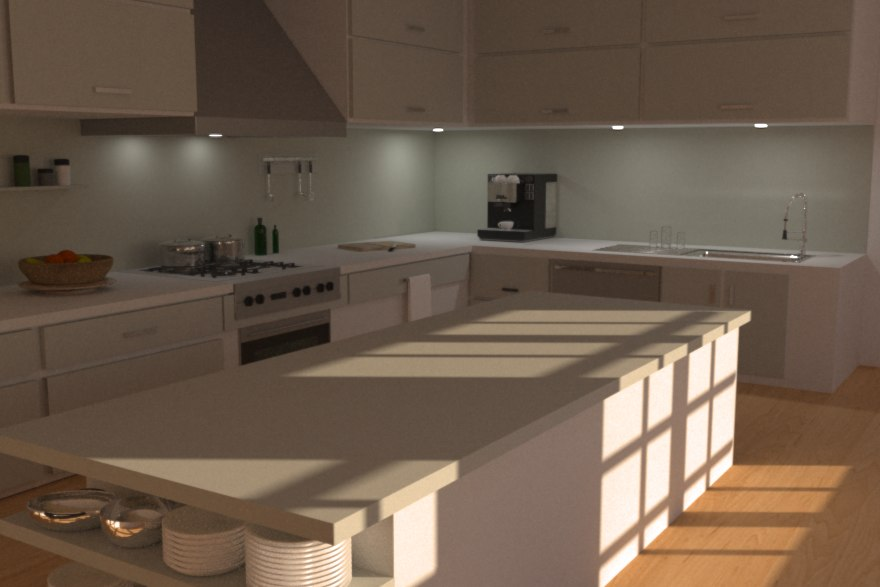 Modern Kitchen 3d Model kitchen 3d model