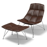 Knoll Jehns and Laub Lounge Chair ottoman
