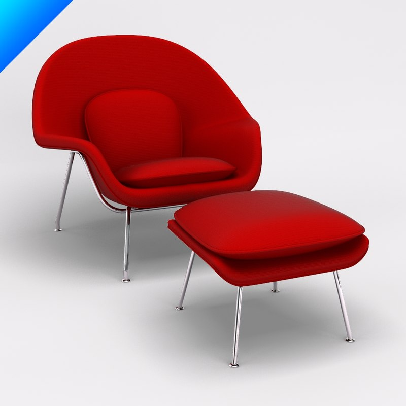 Knoll Womb Chair | Our Designs - 3d 3ds womb chair ottoman knoll - 3ds Womb Chair Ottoman Knoll