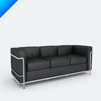 3d 3ds lc2 petite seat sofa le