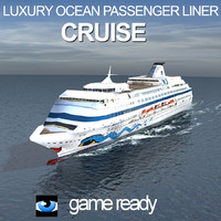 luxury ocean passenger liner 3d model
