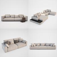 3dsmax modern sofa set