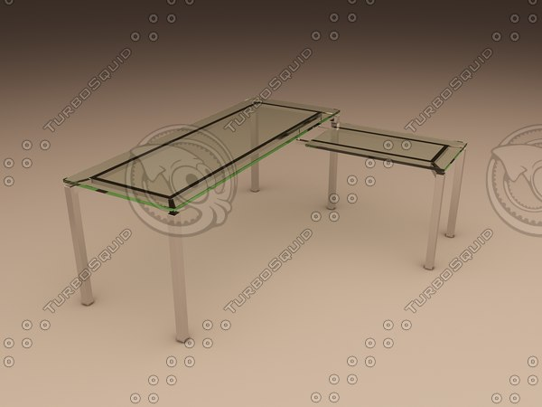 3ds max office table lorenco corner
