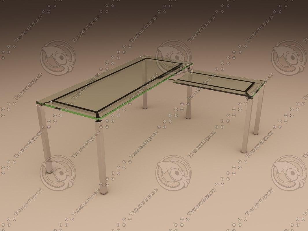 3ds max office table lorenco corner