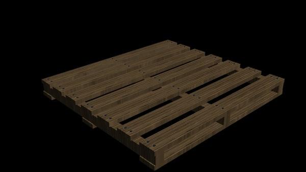 free pallet 3d model
