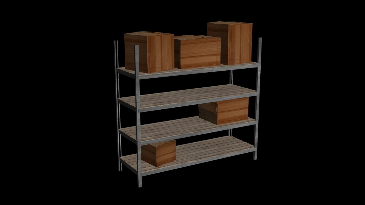 3dsmax metal cardboard boxes