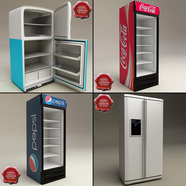 3d model refrigerators v3