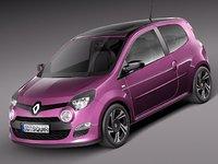 renault twingo 2012 car 3d max