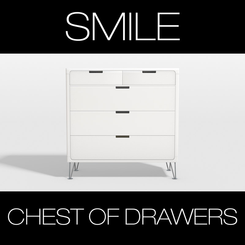 3dsmax smile chest drawers