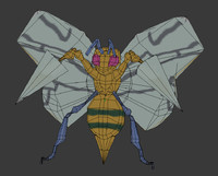 3d beedrill pokemon model
