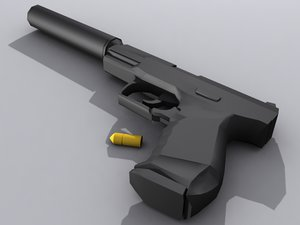 3ds max walther p99 - pistol