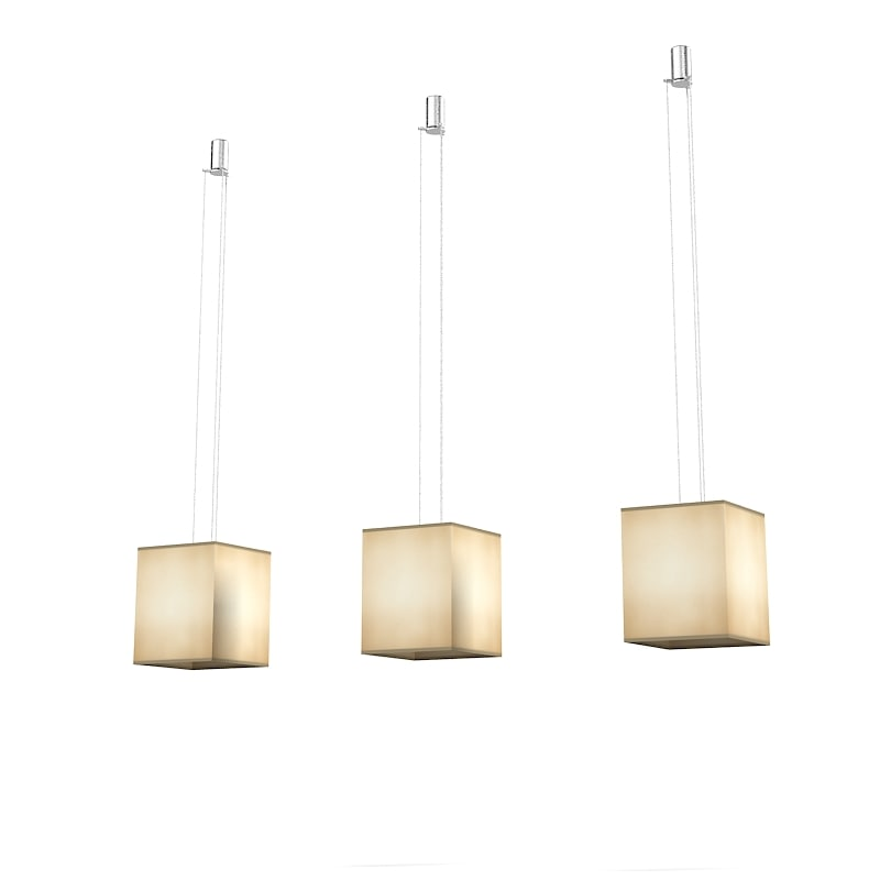 suspension silk chandelier 3d model