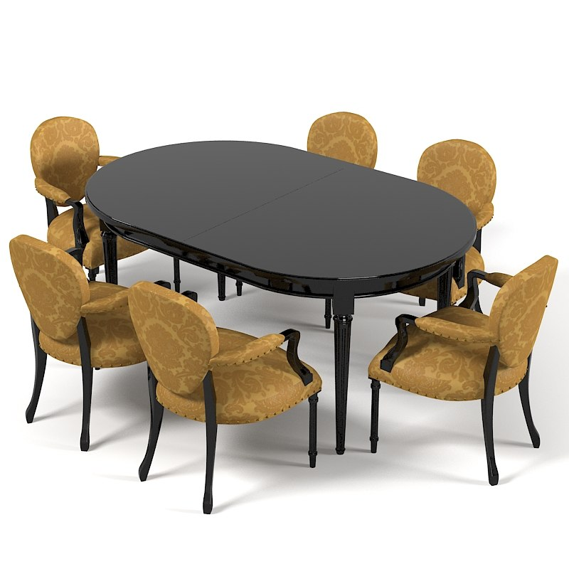 dining table chair 3d 3ds