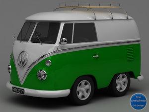 3d model volkswagen type 1 baby