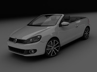3d volkswagen golf cabrio model