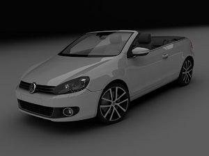 3d volkswagen golf cabrio model