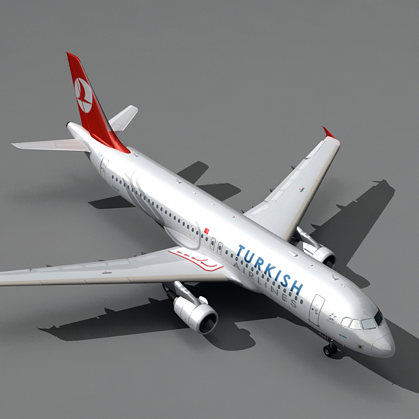 3d airbus a320 turkish airlines