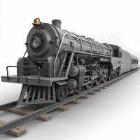 3ds max realistic berkshire steam locomotive