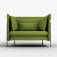 3d model vitra alcove chair
