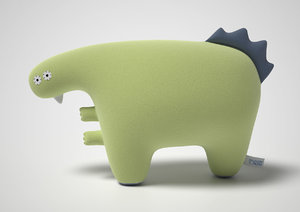 3d plush toy model