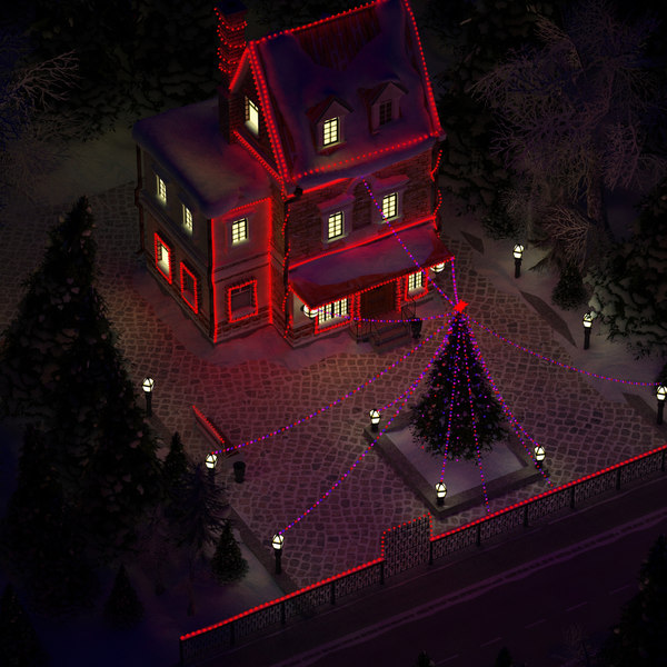 3ds max christmas house