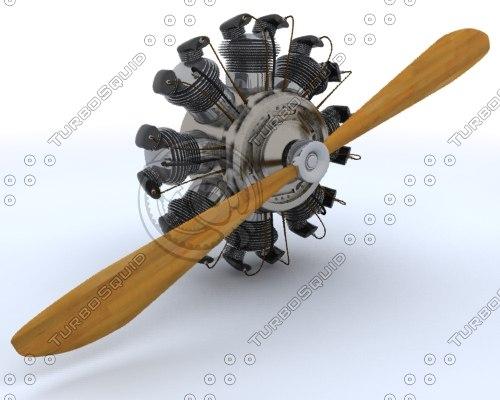 3ds max biplane engine