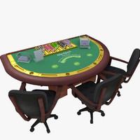 table card chips 3d obj