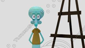 tentacles quincy 3d model