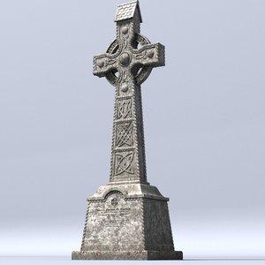 lwo celtic gravestone