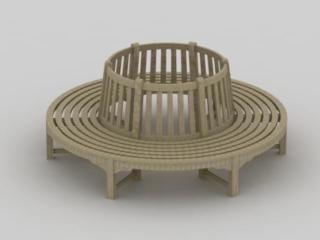 3d enviroment bench model