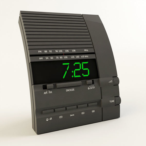 clock radio alarm 3d model
