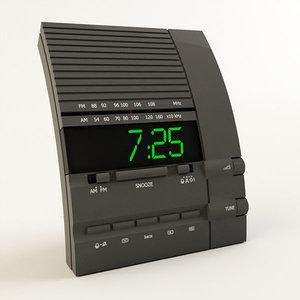 clock radio alarm 3d model