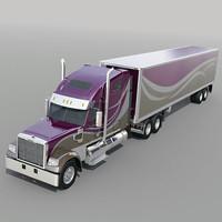 3d model freightliner coronado trailer