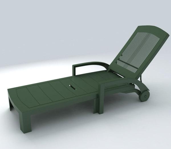 deckchair exterior 3d model