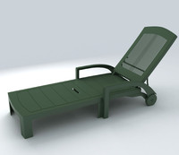 deckchair exterior 3d model