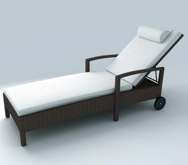 3ds max deckchair exterior