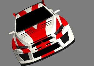 3d model mitsubishi lancer evolution x