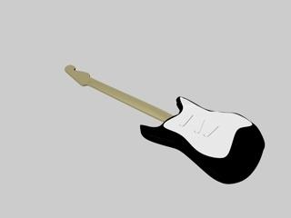 c4d fender guitar