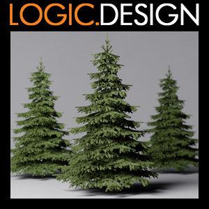 3dsmax fir tree