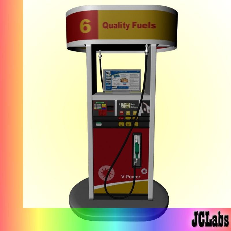 3dsmax gas station