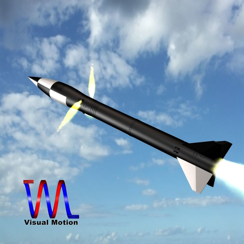 3d model of nuclear missile army
