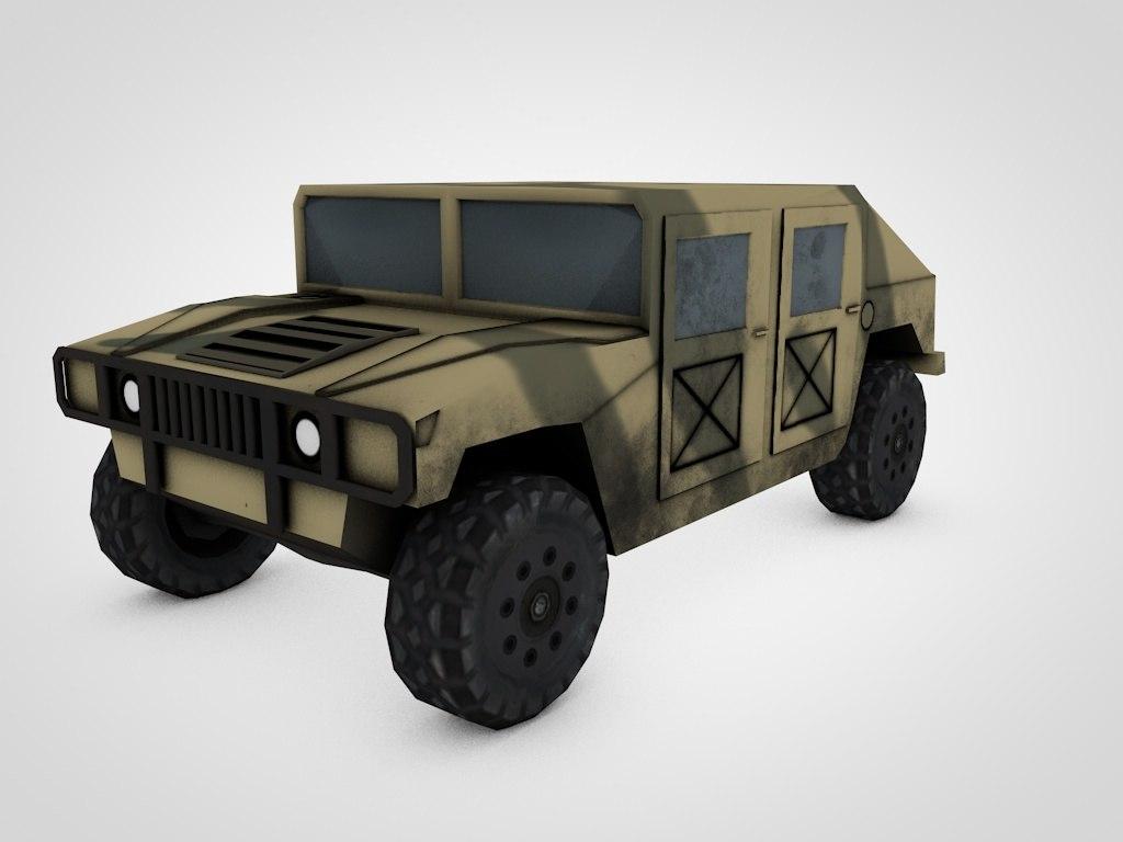 free army car 3d model
