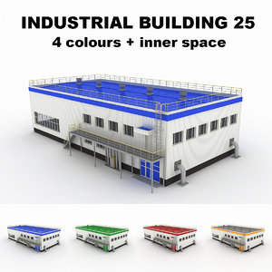 3d medium industrial building 25