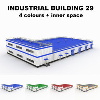 3d model medium industrial building 29