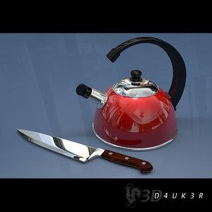 kettle knife 3d model