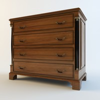 3d chest drawers globe wernicke