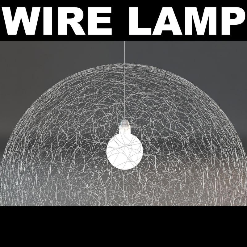 3d model wire light