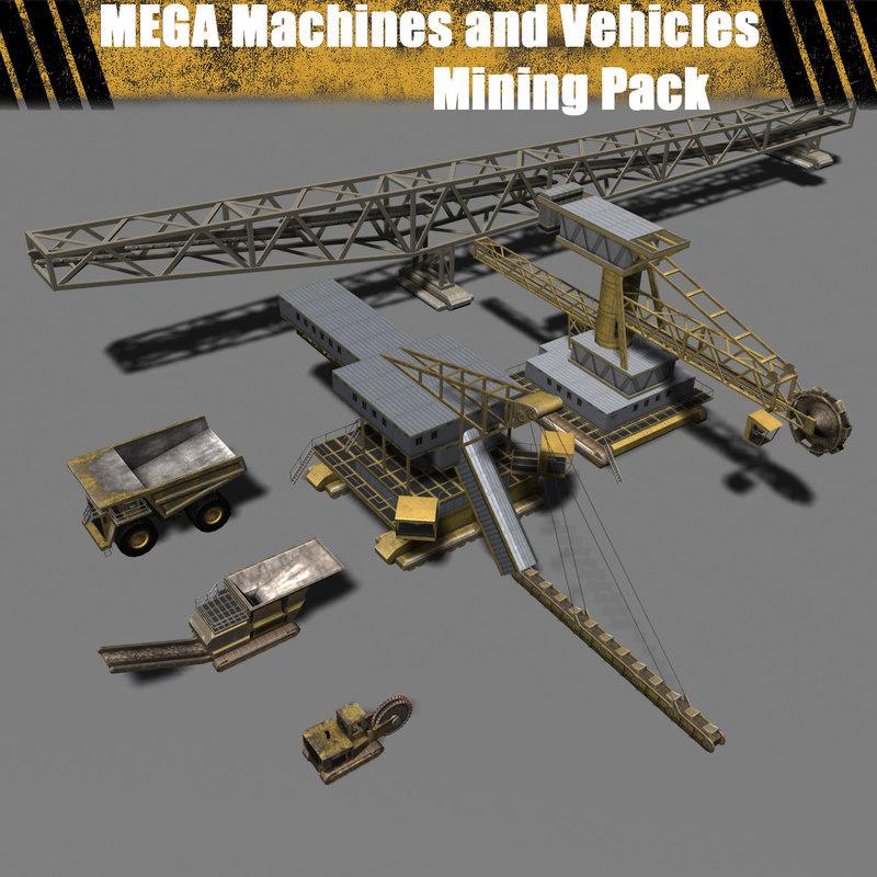3dsmax mega machines vehicle -
