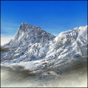 3d model mountain snowy terrain landscape