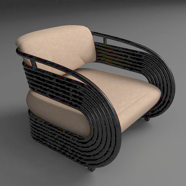 nastro armchair 3d model